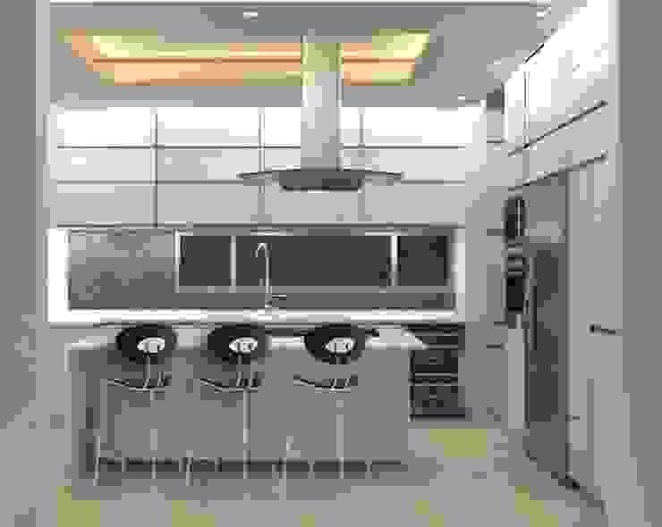 COCINA RESIDENCIAL GHT EcoArquitectos Cocinas minimalistas