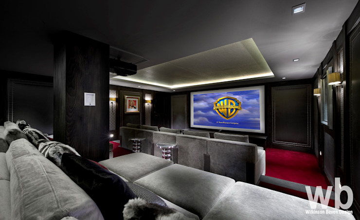 Basement Cinema by Wilkinson Beven Design Eclectic