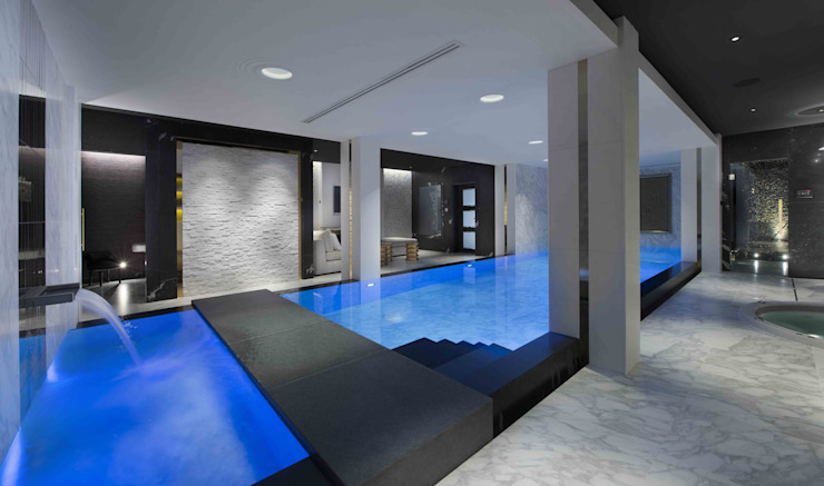 Basement Pool & Spa Modern pool by Wilkinson Beven Design Modern