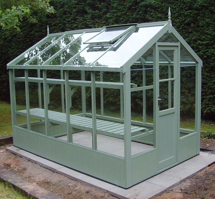 Swallow Kingfisher 6x10 Wooden Greenhouse homify Klasik