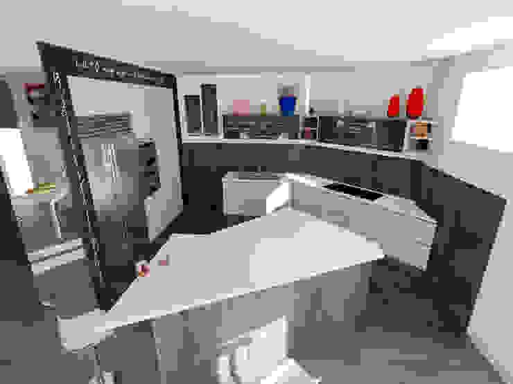 Cucina °Shark tooth° ...dente di squalo Cucina moderna di Inarte Progetti di Lucio Mana Moderno