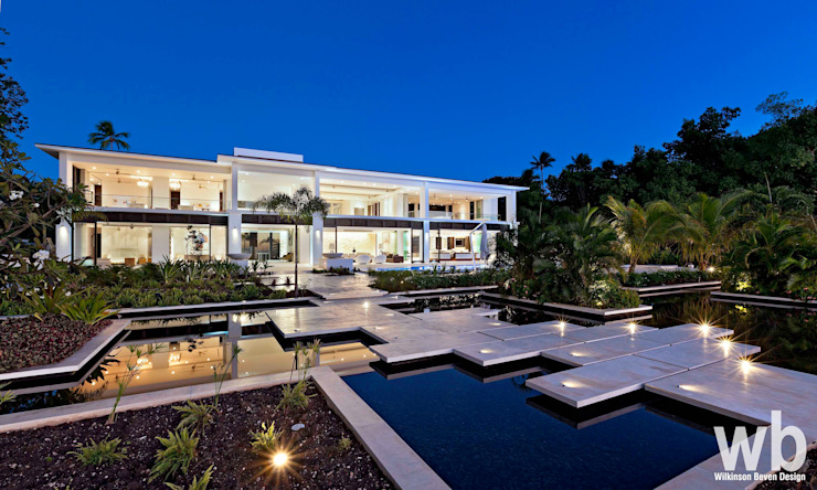 Private Caribbean Villa Casas modernas de Wilkinson Beven Design Moderno