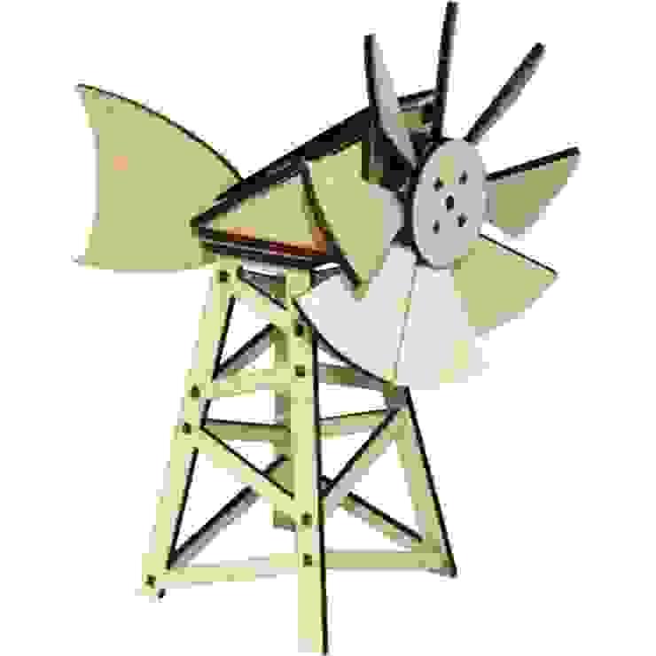 Mini Eolienne solaire américaine par Jardin Design Deco Eco Éclectique