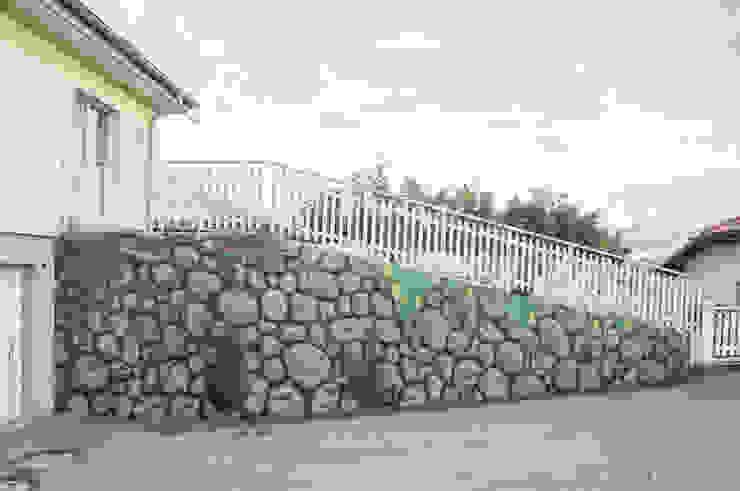 Imitation Mur Pierre + Végétal par BAROGRAFF