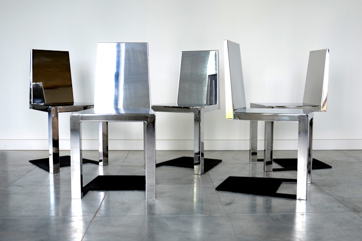 Stainless Steel Shadow Chair: eclectic  by Duffy London, Eclectic