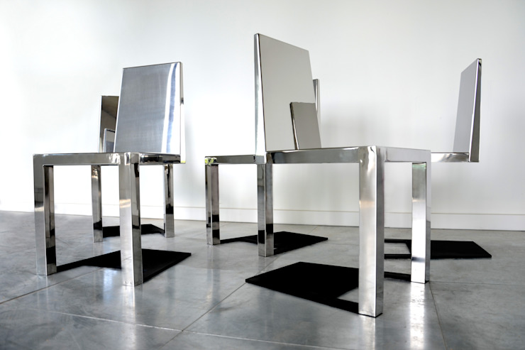 Stainless Steel Shadow Chair por Duffy London Eclético