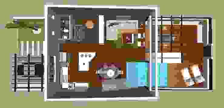Loft de dos pisos / Two floor loft Casas de estilo moderno de Julia Design Moderno