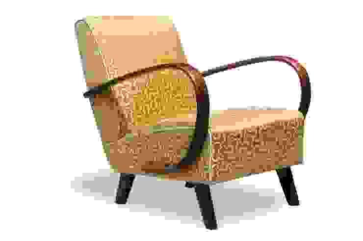 Poltrone Art Deco restaurate di Italian Vintage Sofa