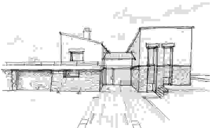 Villa unifamiliare con piscina a Foligno (PG) di Fabricamus - Architettura e Ingegneria Moderno