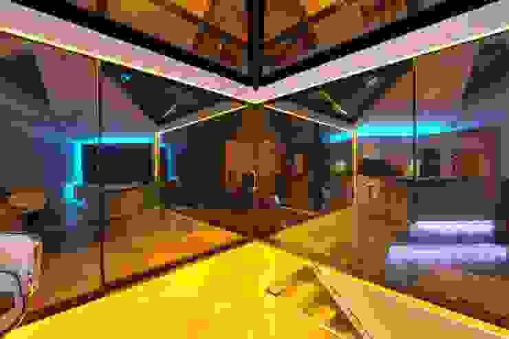 Semi-detached glory hole Paul Wiggins Architects Modern conservatory