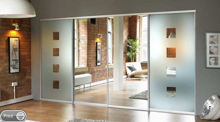 Mirror Sliding Doors Wardrobe Design Online BedroomWardrobes & closets