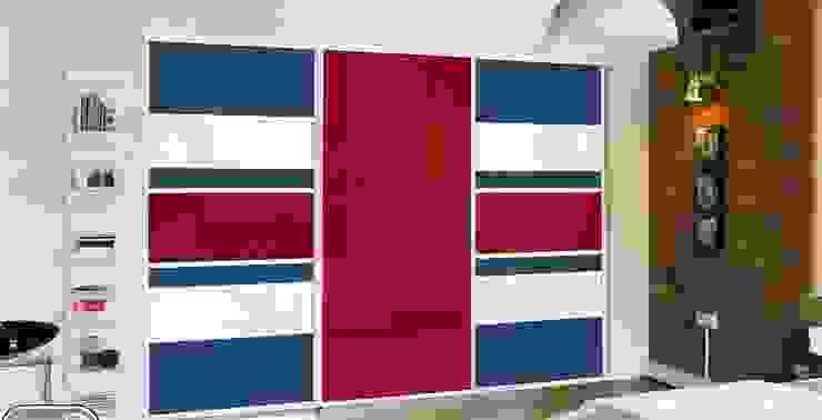 REd Sliding Doors by Wardrobe Design Online