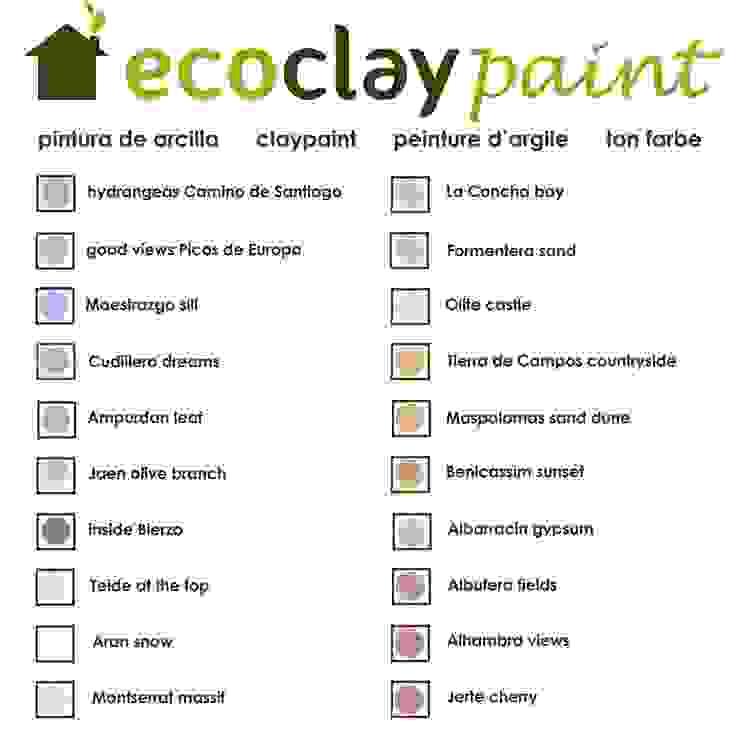 carta de colores pinturas de arcilla ecoclay de ecoclay