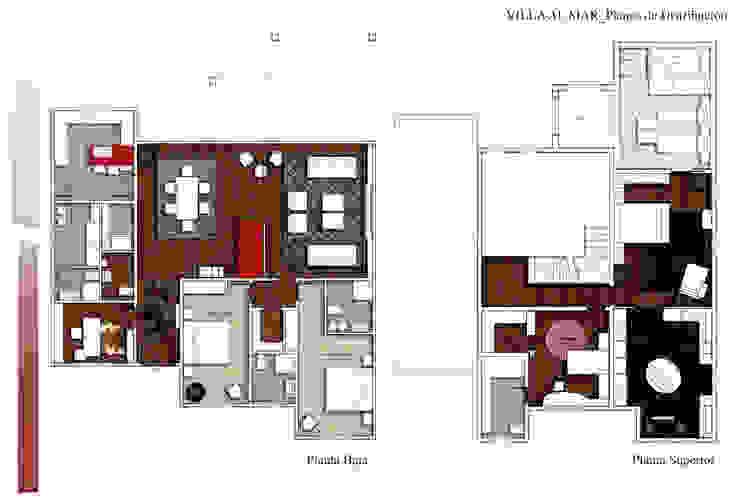 Plano distribución Casas de CANOCARTERETdesign&execution