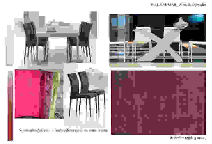 Estudio de materiales Comedor Casas de CANOCARTERETdesign&execution