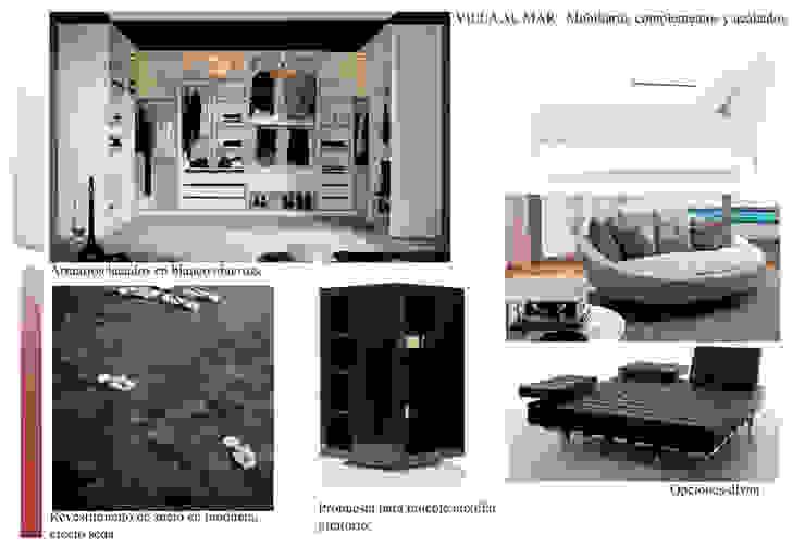 Estudio materiales vestidor Casas de CANOCARTERETdesign&execution