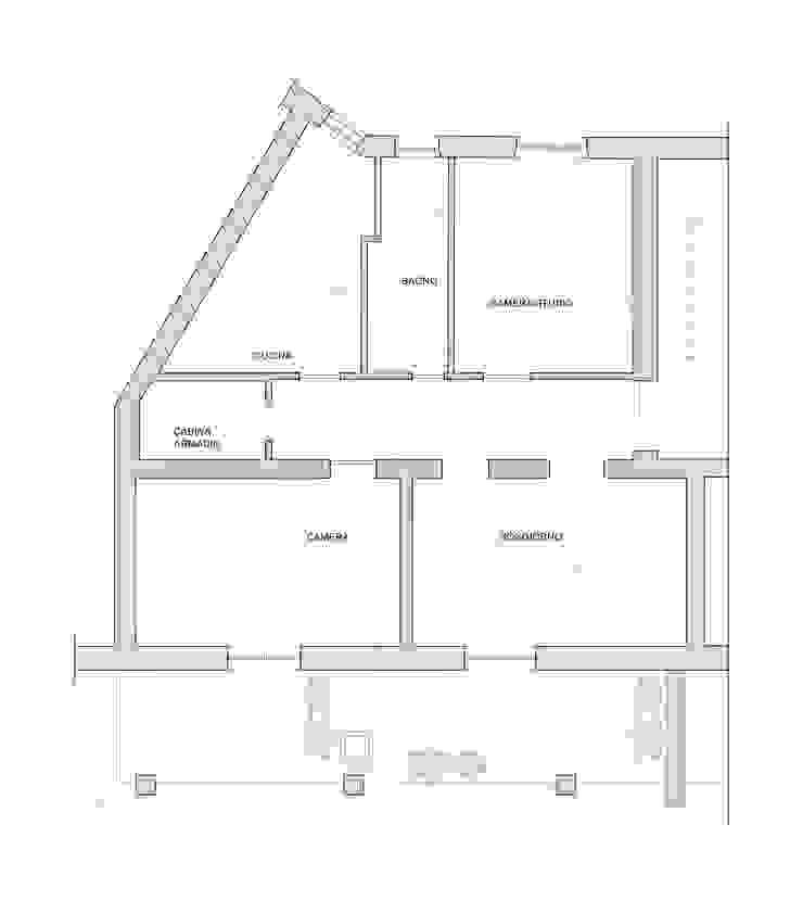 Planimetria dell'appartamento di EMC2Architetti Moderno