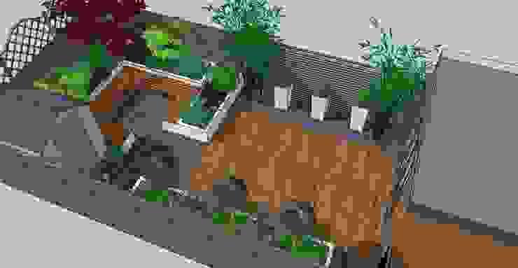Contemporary design for small back garden Modern garden by Bea Ray Garden Design Ltd Modern
