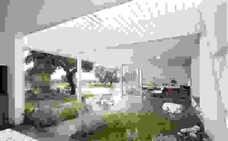 Porche y jardín de aromáticas Jardines de Murado & Elvira