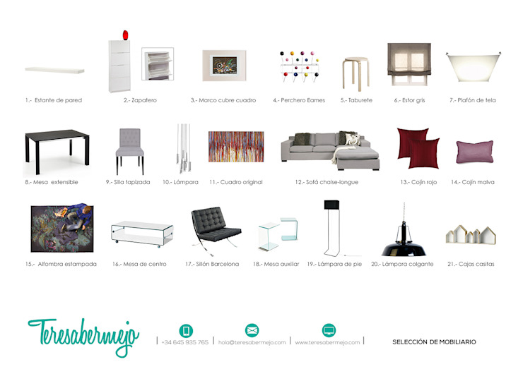 Proyecto e-decoración en Tenerife de Diseñadora de Interiores, Decoradora y Home Stager Ecléctico