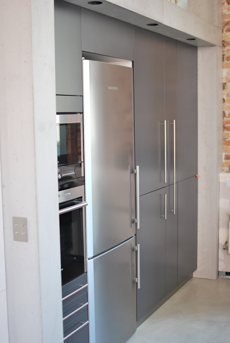 Loft Cuisine moderne par Concrete LCDA Moderne Béton