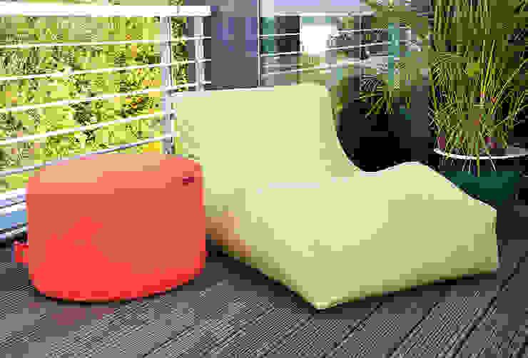 OUTBAG Wave in Plus lime und Rock in Plus orange Global Bedding GmbH & Co.KG Balkon, Veranda & TerrasseMöbel Kunststoff