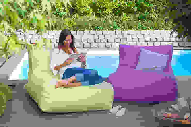 OUTBAG Newlounge in Plus lime und purple Global Bedding GmbH & Co.KG Balkon, Veranda & TerrasseMöbel Kunststoff
