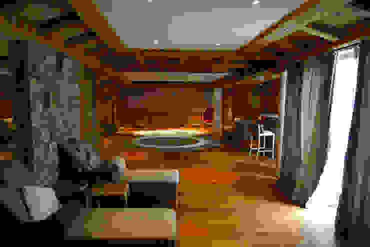 Chalet Courchevel Spa moderne par Concrete LCDA Moderne