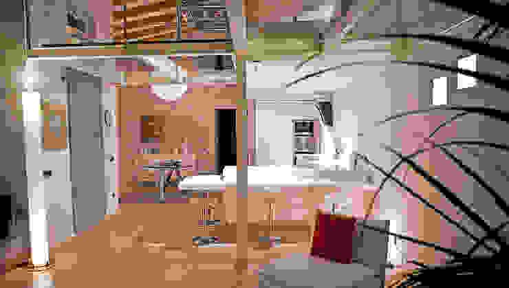 Loft in Milan Soggiorno moderno di Studio Arkimode Moderno