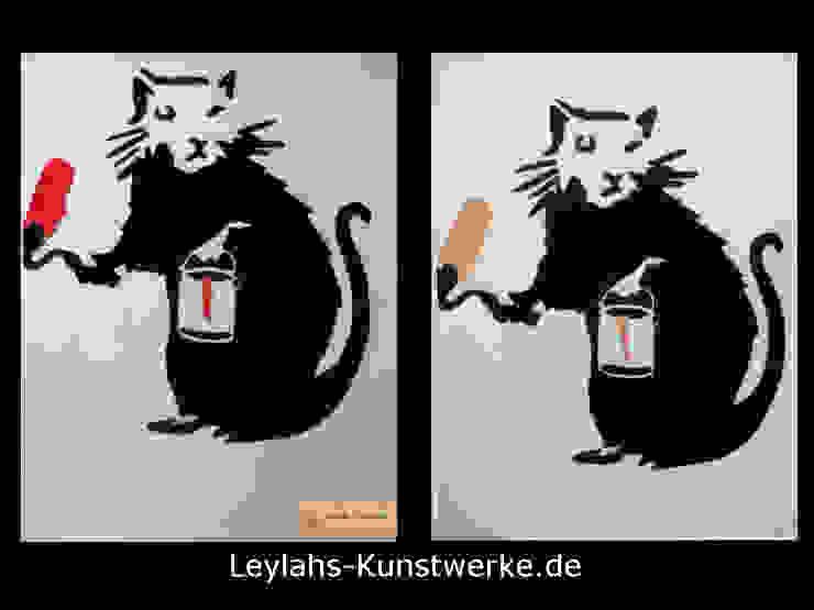 Banksy - Painter Rat von Leylahs-Kunstwerke