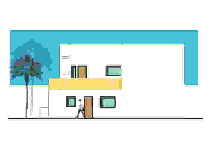 Fachada lateral izquierda de 21 Arquitectura Moderno