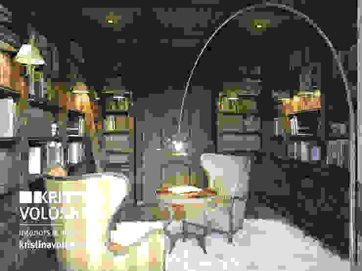 Библиотека в рустикальном стиле Балкон и терраса в рустикальном стиле от kristinavoloshina Рустикальный