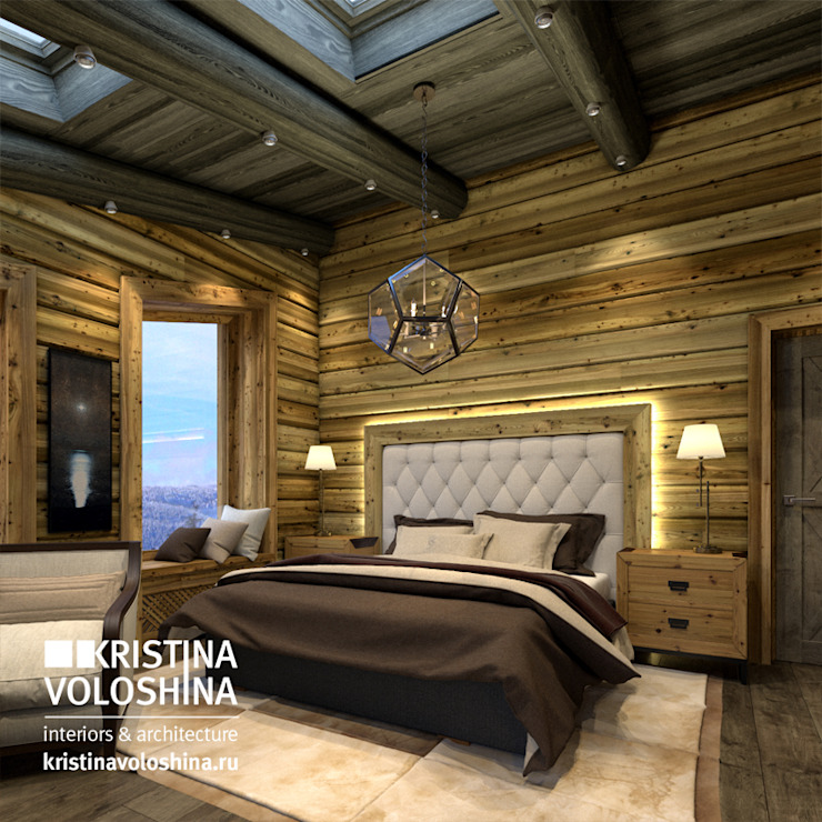 Рустикальная спальня Спальня в рустикальном стиле от kristinavoloshina Рустикальный