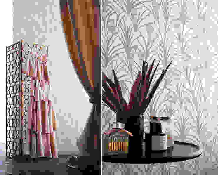 Des papiers peints inspirés par l'univers textile par Au Fil des Couleurs Classique