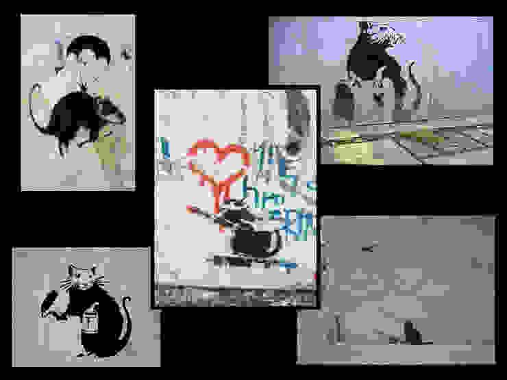 Banksy - Ratten Collage von Leylahs-Kunstwerke