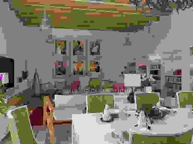 Zona de comedor y televisión. Salones de estilo ecléctico de MUMARQ ARQUITECTURA E INTERIORISMO Ecléctico