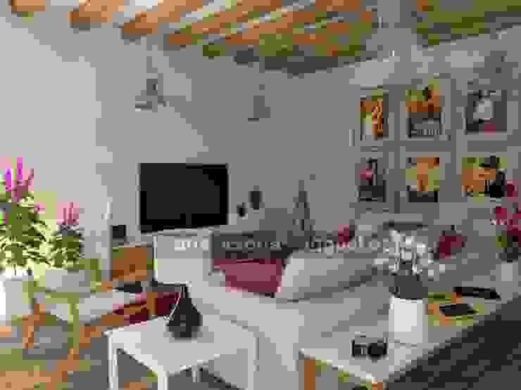 Zona de televisión. Livings de estilo ecléctico de MUMARQ ARQUITECTURA E INTERIORISMO Ecléctico
