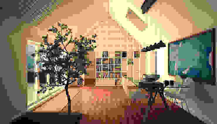 Vista prospettica del soggiorno di 3DIAMONDS Moderno