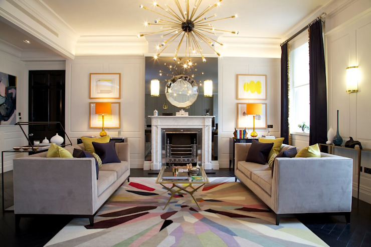 Global Eclectic Style Living room by SB design Studio