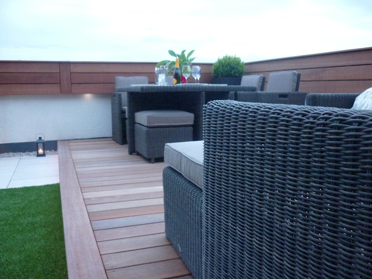 Roof terrace 3 de Paul Newman Landscapes Moderno