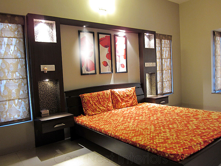 Subramanian Residence Modern style bedroom by Cozy Nest Interiors Modern