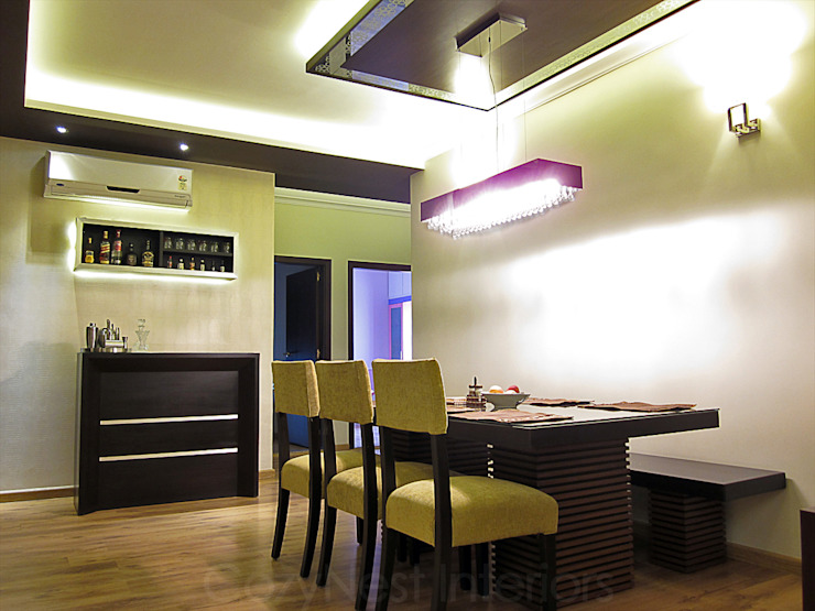 Jha Residence Modern dining room by Cozy Nest Interiors Modern