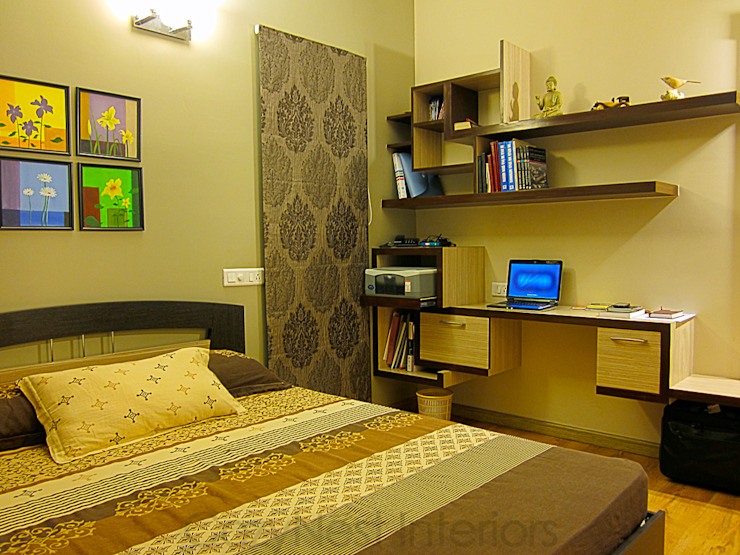 Jha Residence Modern style bedroom by Cozy Nest Interiors Modern