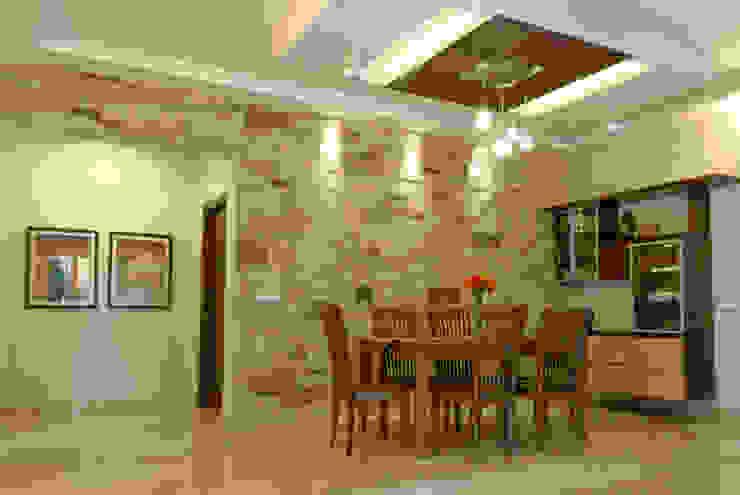 Jaya & Rajesh 모던스타일 다이닝 룸 by Cozy Nest Interiors 모던