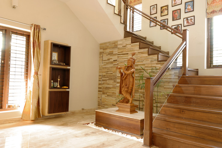 Jaya & Rajesh Modern Corridor, Hallway and Staircase by Cozy Nest Interiors Modern