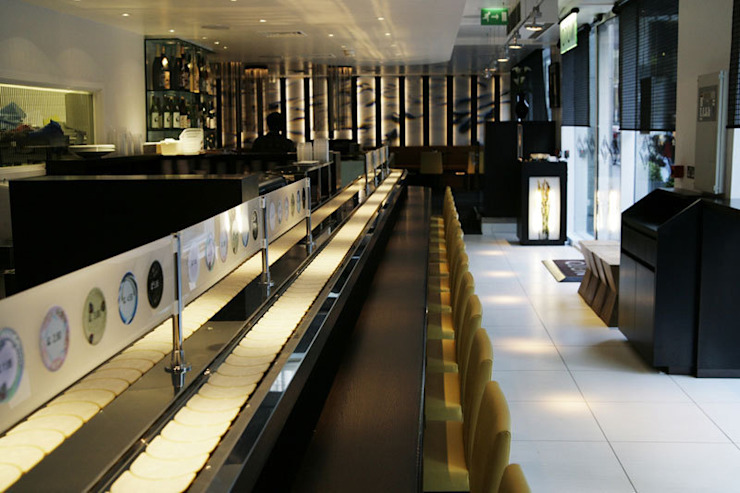 Sushi Restaurant in the City Commercial spaces by NSDA