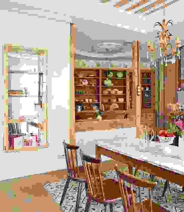 Reforma integral de vivienda Simetrika Rehabilitación Integral Comedores de estilo ecléctico