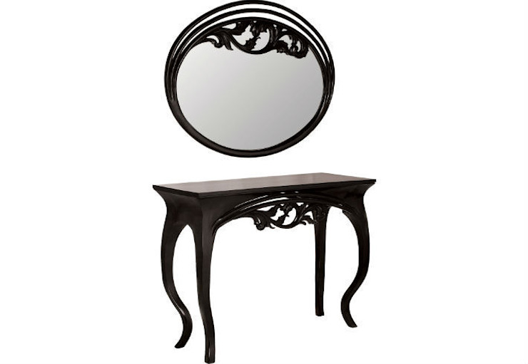 Mirror and Console Table Finesse: eclectic  by Adonis Pauli HOME JEWELS, Eclectic