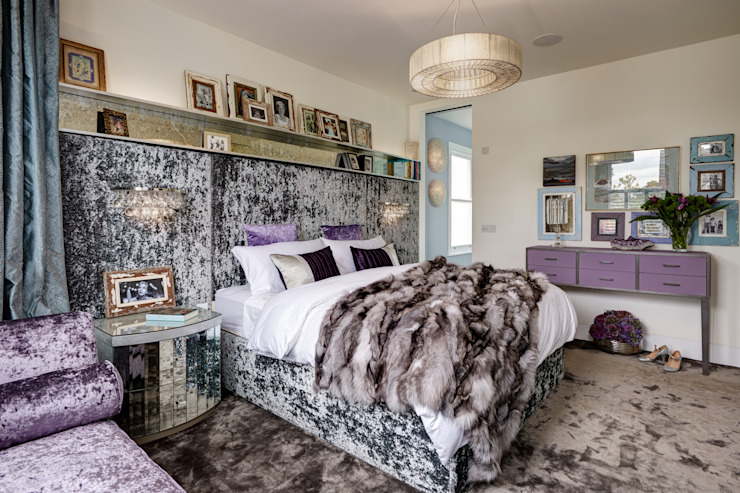 Boho House in Barnes with a Touch of Dazzle Eclectic style bedroom by White Linen Interiors Ltd Eclectic