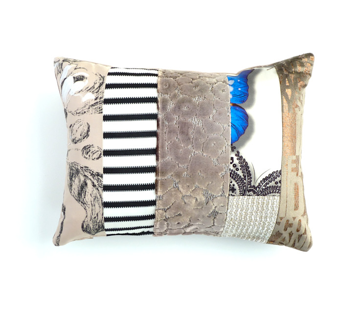 Tallulah luxury patchwork cushion: eclectic  by Suzy Newton Ltd., Eclectic